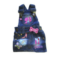 Одежда для собак котоновый комбез Barbie Denim Overall Dress (Манки Дейз)