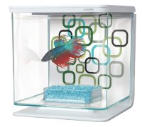 Аквариум для петушка Betta Kit Geo Bubbles 2 л, белый (Хаген)